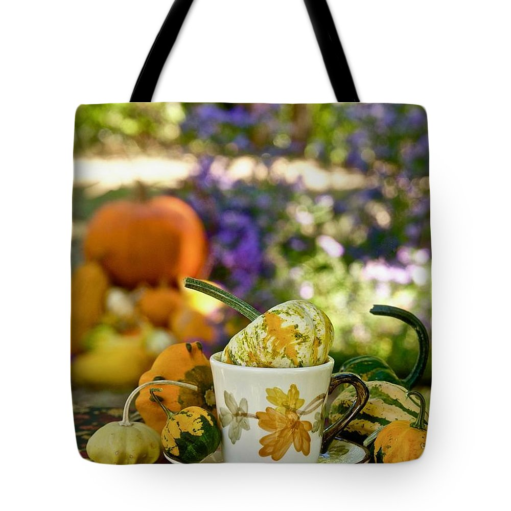 Coffee Cup Tote Bag featuring the photograph Autumn Delight by Marsha McDonald
