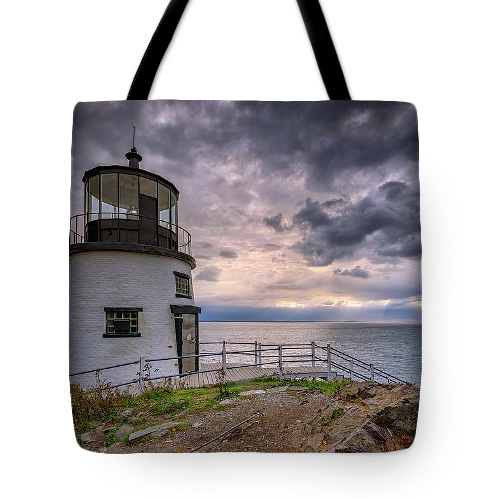 Owls Head Tote Bag featuring the photograph Autumn Morning At Owls Head by Rick Berk