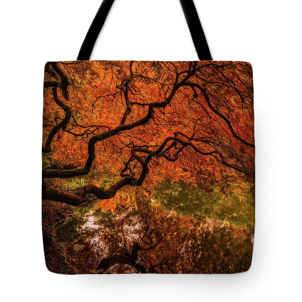 Autumn Tote Bag featuring the photograph Autumn Reflections by Judi Kubes