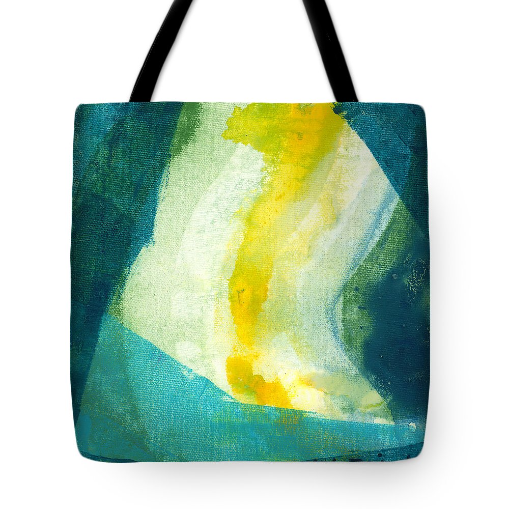 Abstract Tote Bag featuring the painting Back by Claire Desjardins