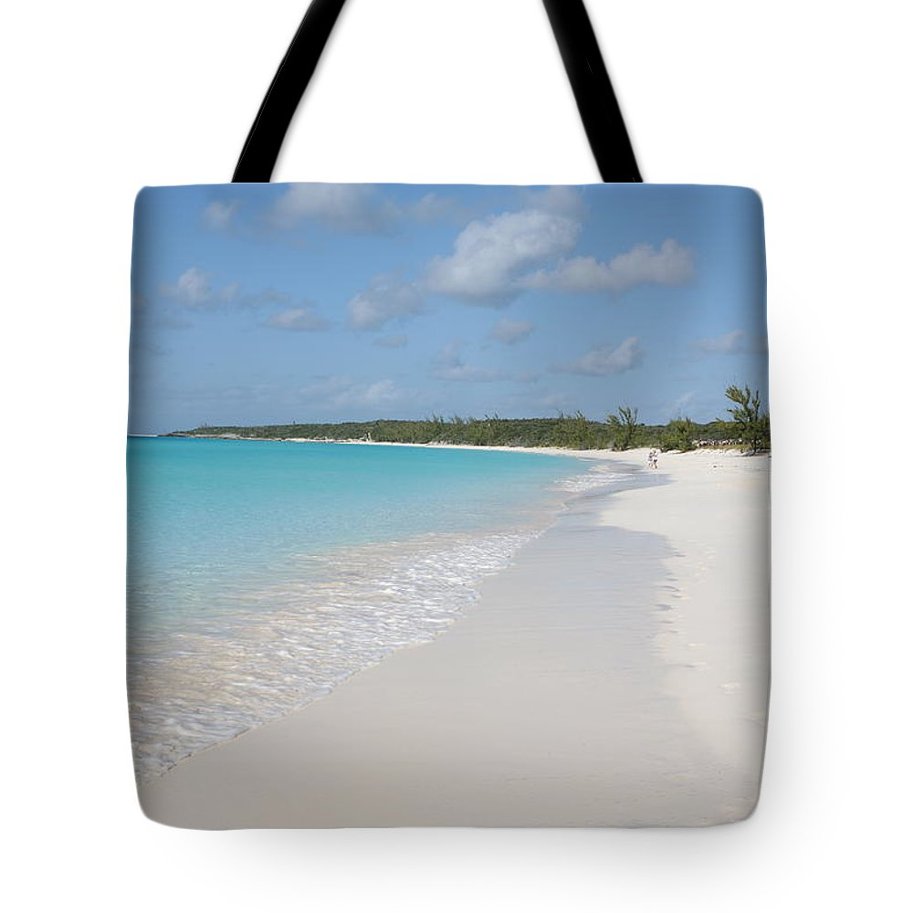 Wind Tote Bag featuring the photograph Bahamas Beach Scene by Ngirish