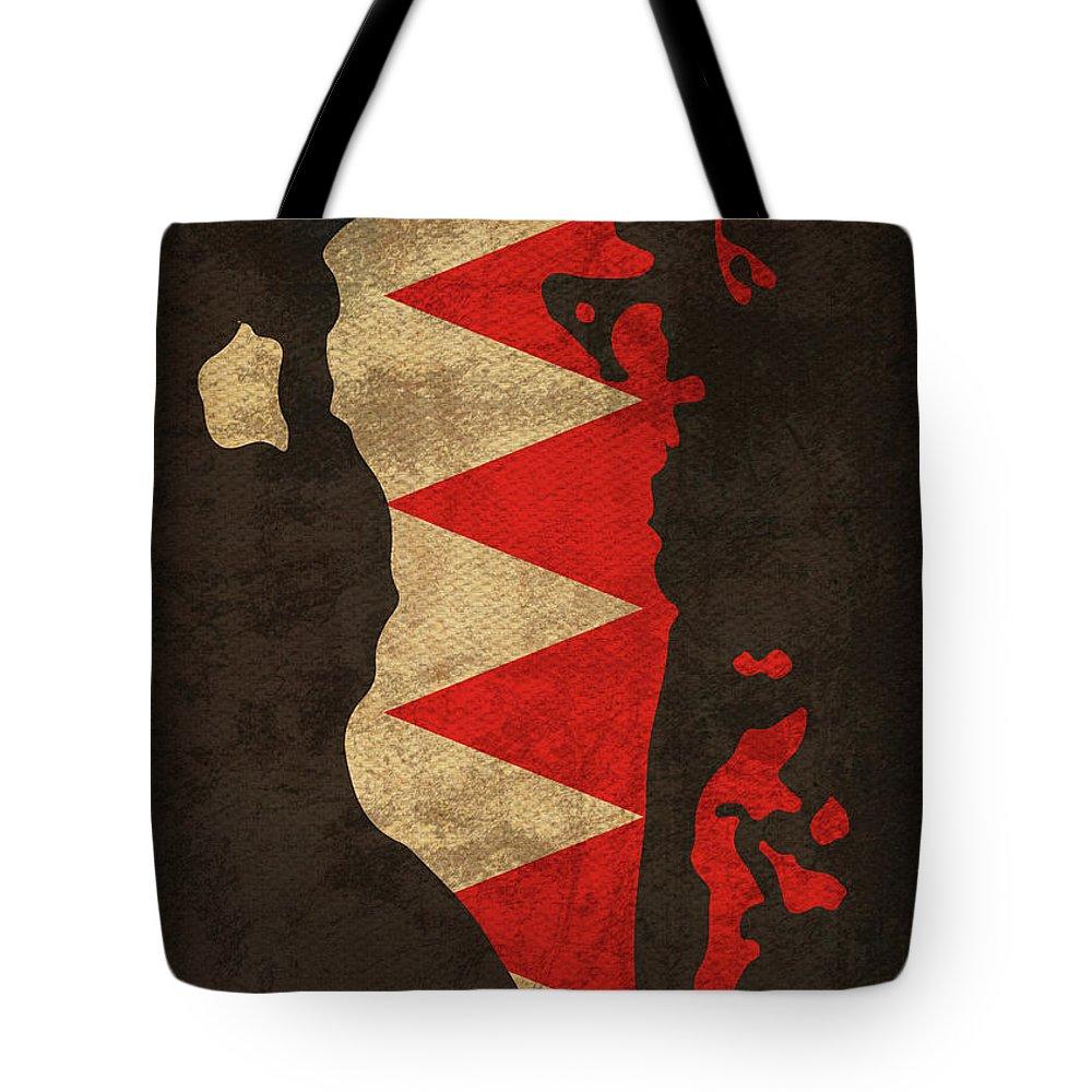 Bahrain Flag Tote Bags
