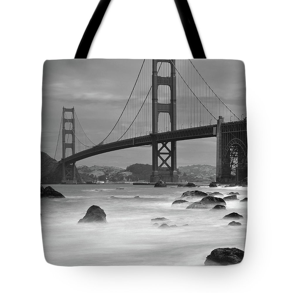 Tranquility Tote Bag featuring the photograph Baker Beach Impressions by Sebastian Schlueter (sibbiblue)