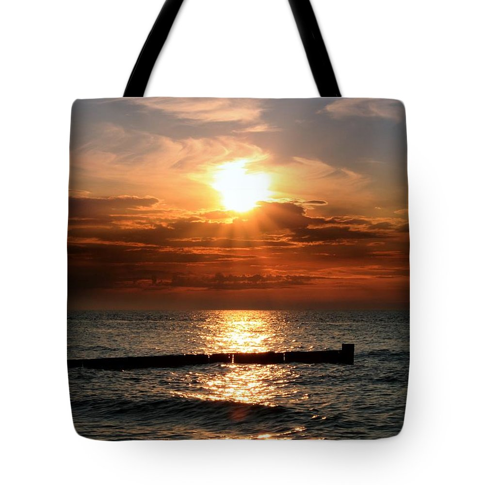 Tranquility Tote Bag featuring the photograph Baltic Sunset by © Jan Zwilling