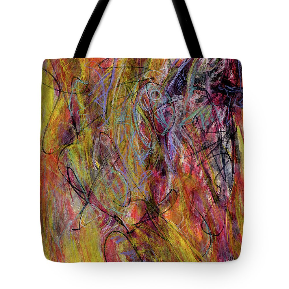 Abstract Tote Bag featuring the painting Bamboozle by Kit Kelley