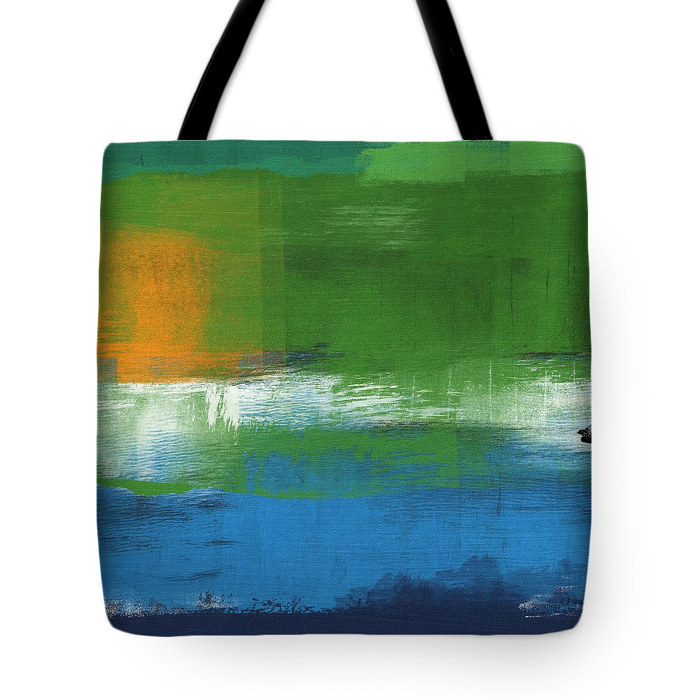 Abstract Tote Bag featuring the painting Barcelona- Abstract Art By Linda Woods by Linda Woods
