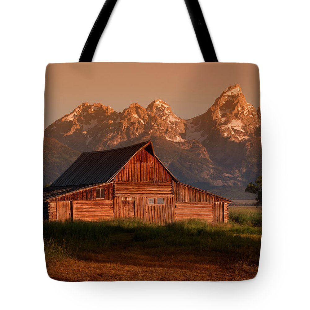 Tote Bag featuring the photograph Barn - Grand Tetons National Park by Rick Veldman