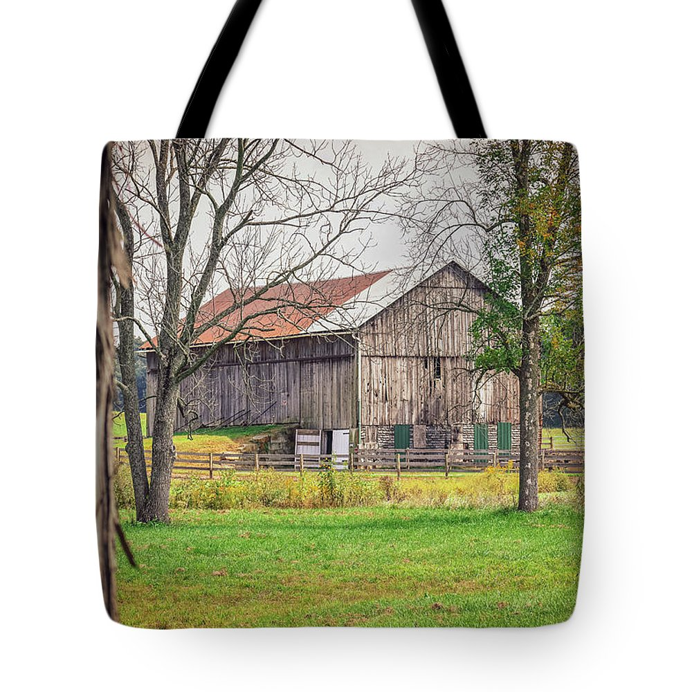 Barn Tote Bag featuring the photograph Barn by Michelle Wittensoldner