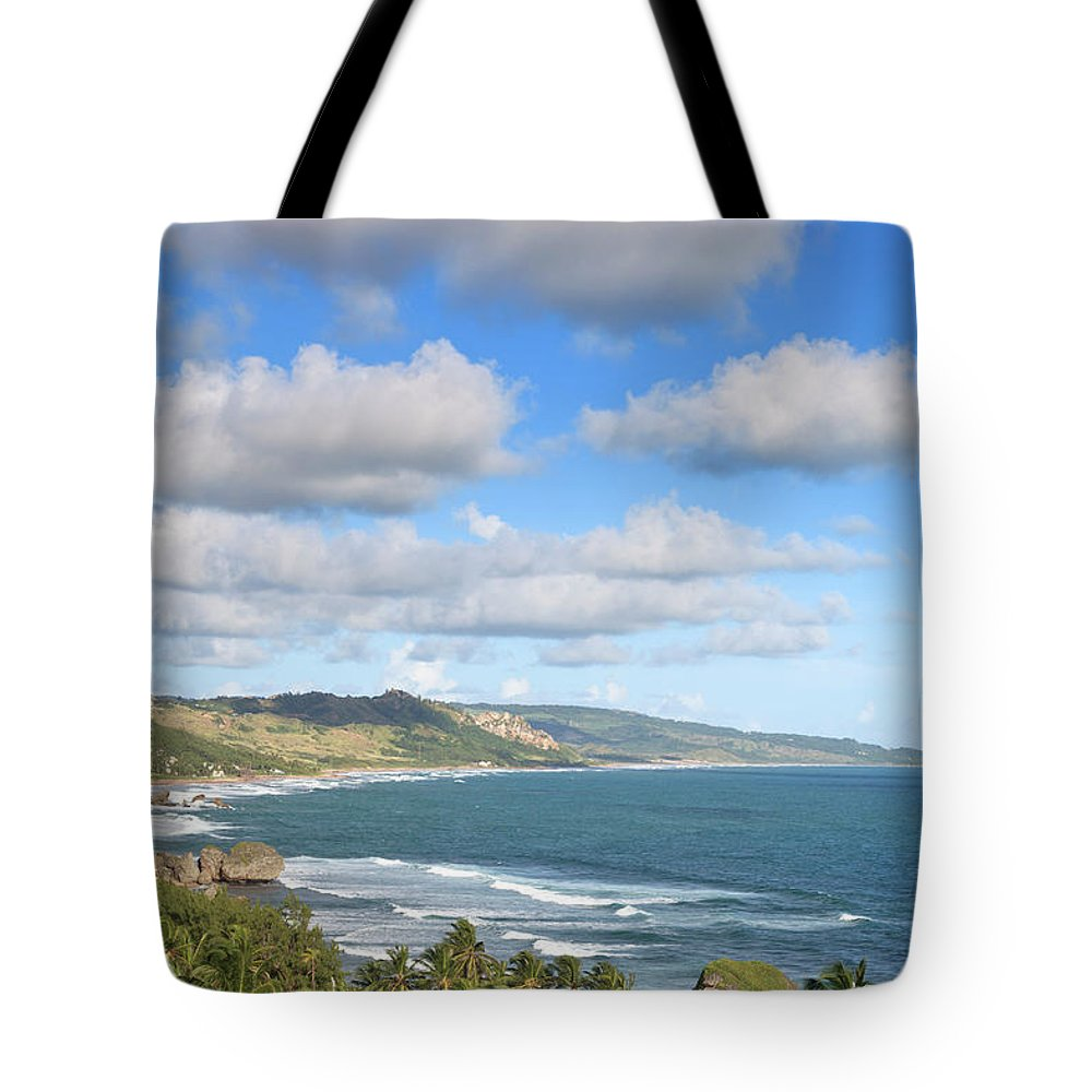 Scenics Tote Bag featuring the photograph Bathsheba Bay, Barbados by Michele Falzone
