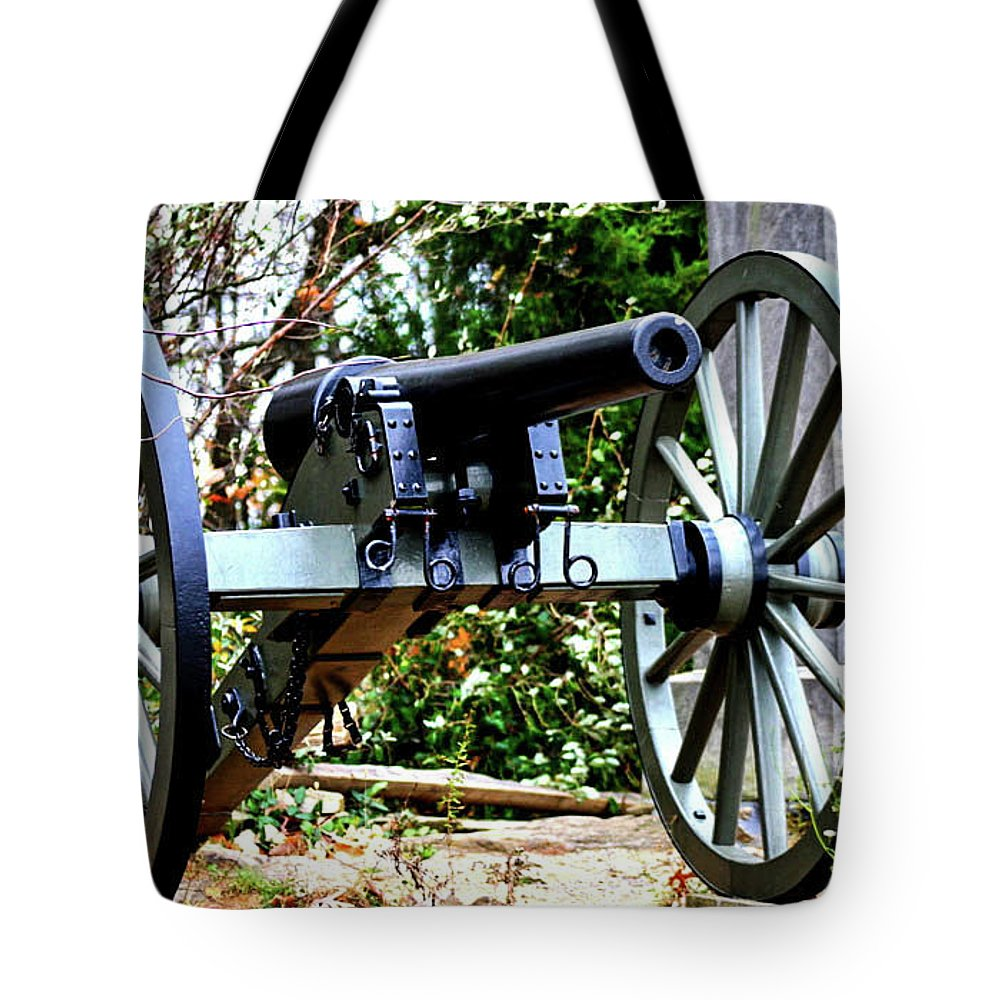 Lieutenant Charles E. Hazlett Of Battery D Tote Bag featuring the photograph Battery D, Fifth United States Artillery by William Rogers