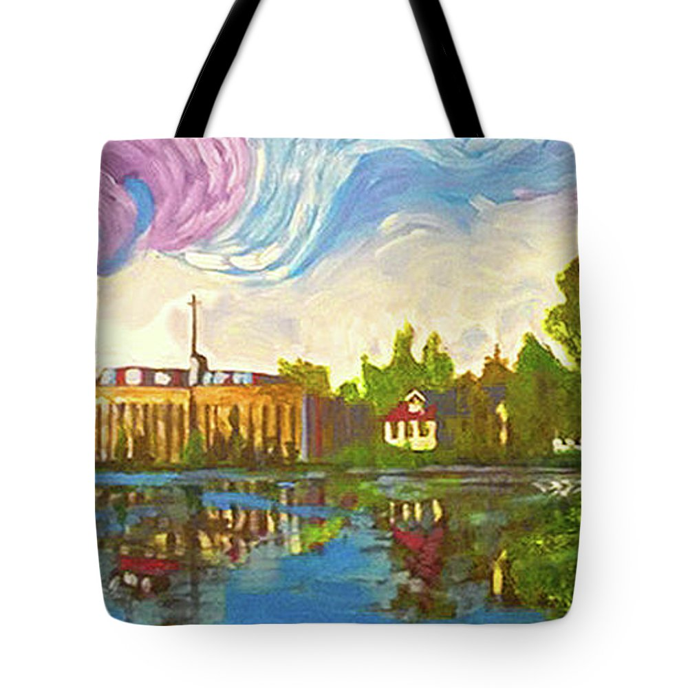Bayou Saint John Tote Bag featuring the painting Bayou Saint John One by Amzie Adams