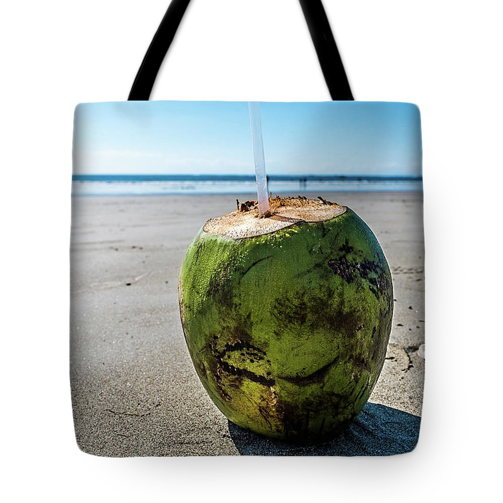 Tote Bag featuring the photograph Beach Coconut by Bryce Stewart