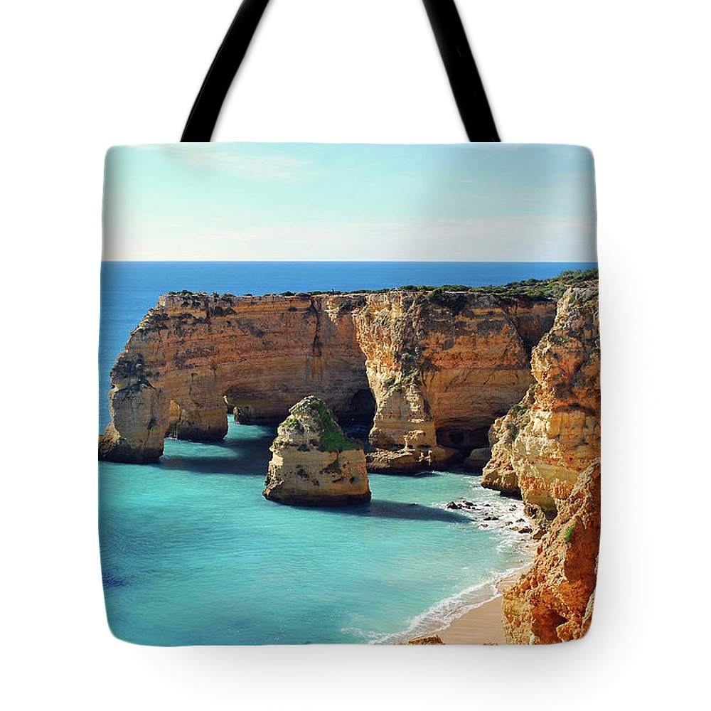 Algarve Tote Bag featuring the photograph Beach by José Luís Pulido