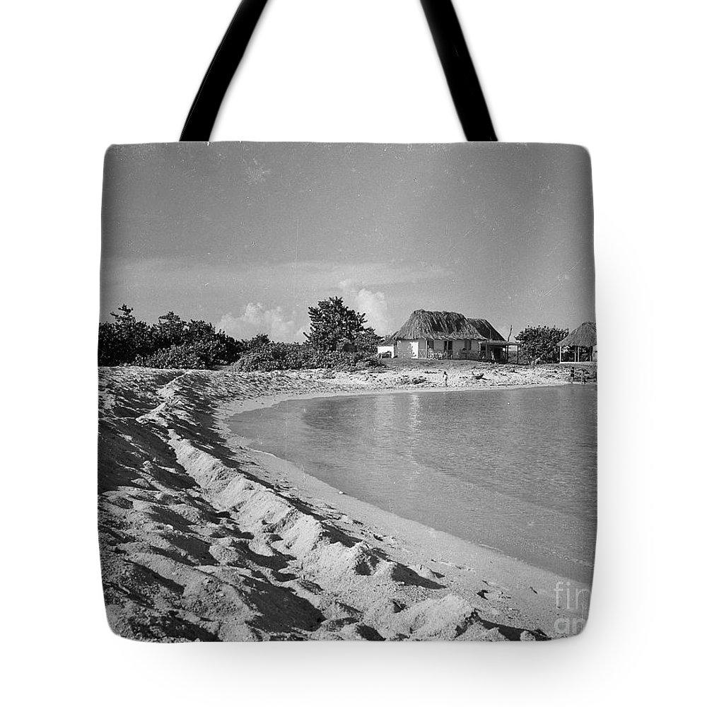 Sand Tote Bag featuring the photograph Beach Sand Cove by Venancio Diaz