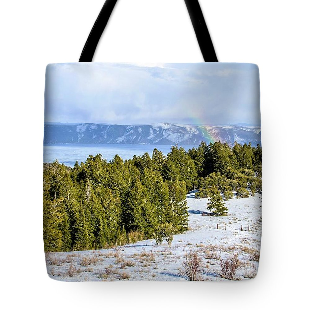Tranquility Tote Bag featuring the photograph Bear Lake Scenic Byway by ©anitaburke