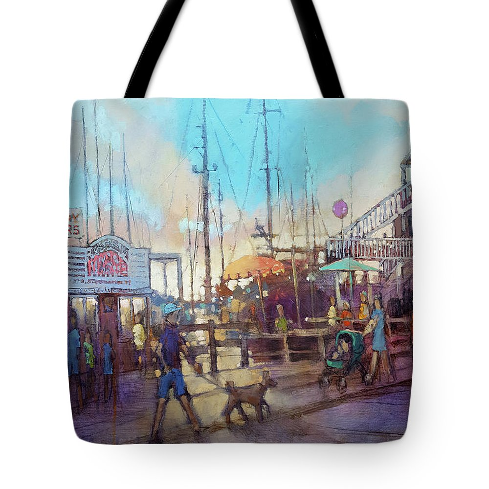Beaufort. Beaufort Tote Bag featuring the painting Beaufort Summer Color by Dan Nelson