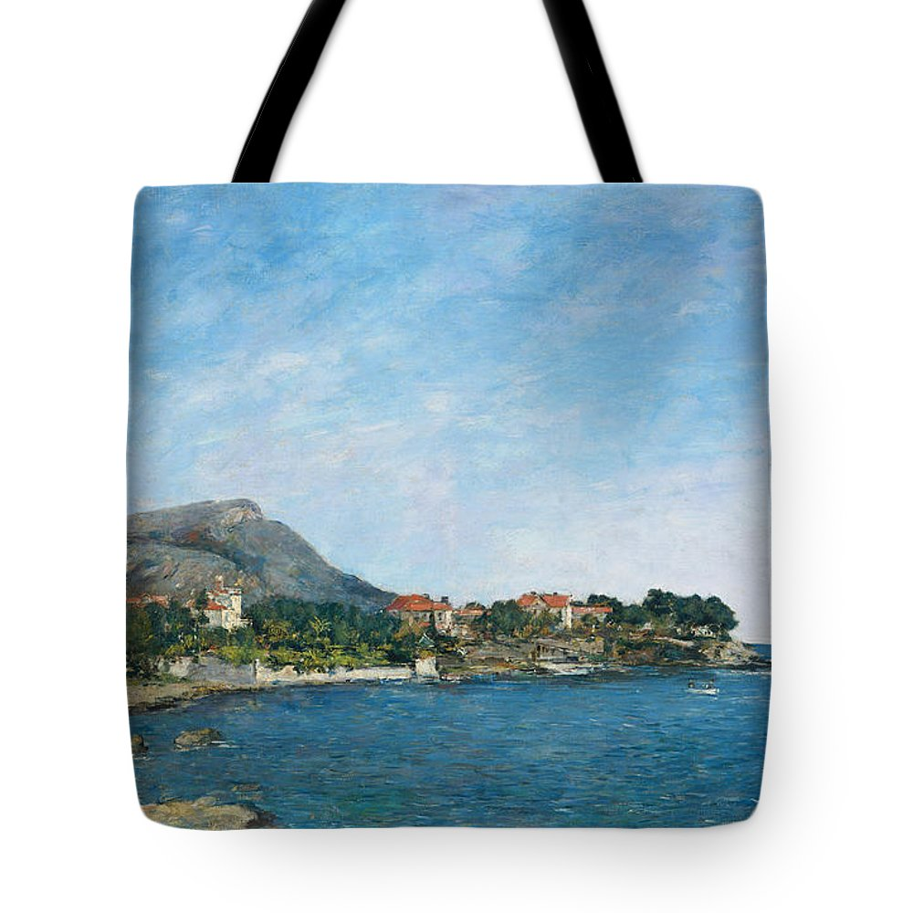 Eugène Boudin Tote Bag featuring the painting Beaulieu The Bay Of Fourmis by Eug ne Boudin