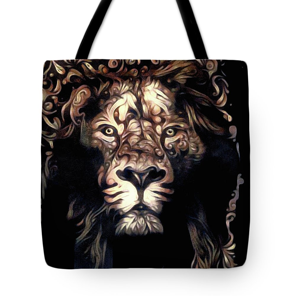 Beauty's Beast Tote Bag featuring the mixed media Beauty's Beast by Susan Maxwell Schmidt
