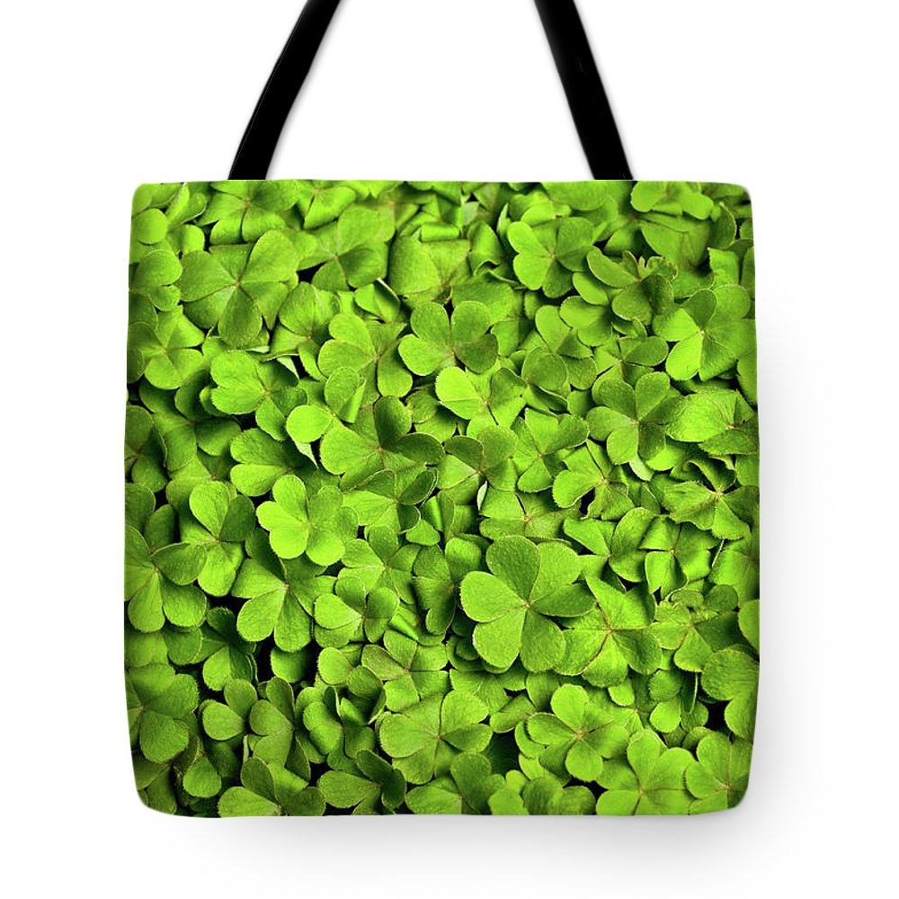 Leaf Tote Bag featuring the photograph Bed Of Clover by Kledge