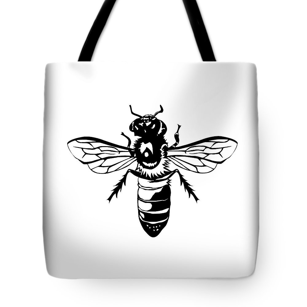 Bee Tote Bag featuring the digital art Bee Nice by Jesse Chaidez