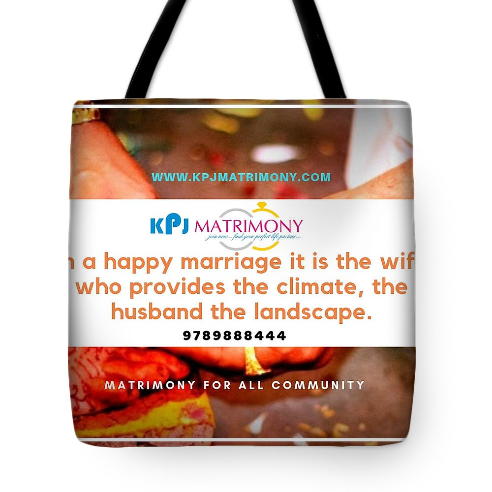 Best Matrimony In Chennai Tote Bag featuring the digital art Best Matrimony In Chennai by Kpj Matrimony