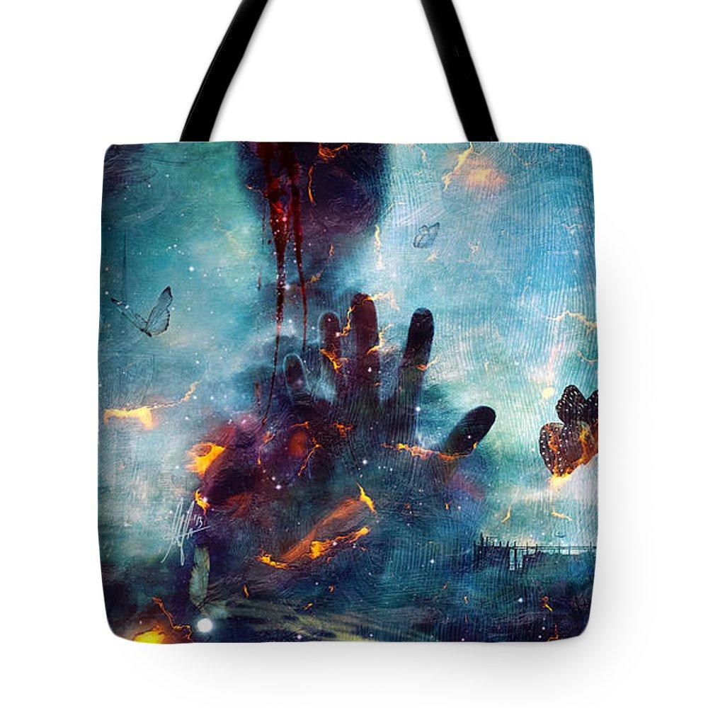 Ghoul Digital Art Tote Bags