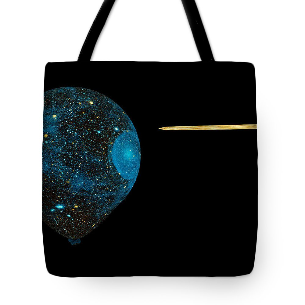 James Smullins Tote Bag featuring the digital art Big Bang Theory Balloon by James Smullins