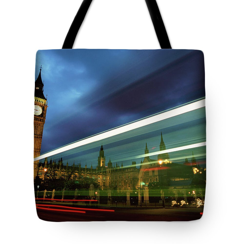 Gothic Style Tote Bag featuring the photograph Big Ben And The Houses Of Parliament by Allan Baxter