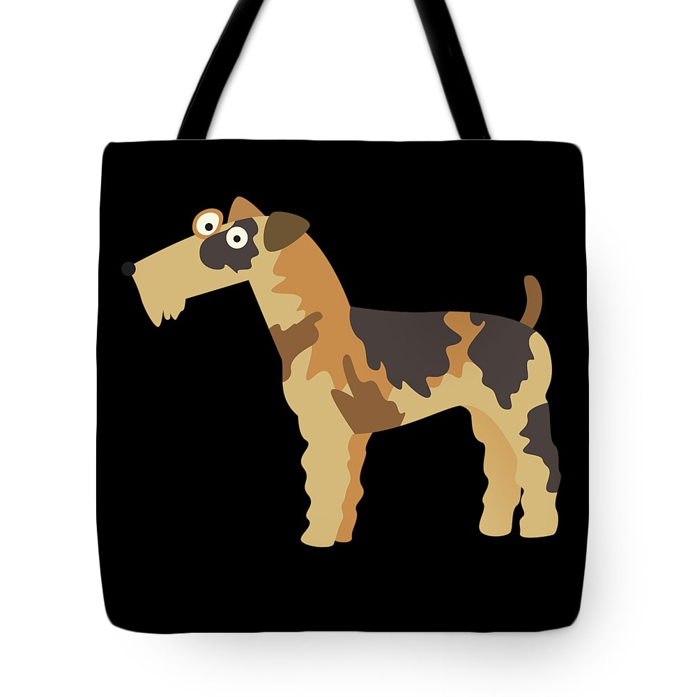 Best-fox-terrier Tote Bag featuring the digital art Big Fox Terrier by DogBoo