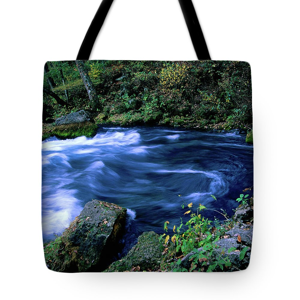 Scenics Tote Bag featuring the photograph Big Spring, Ozarks National Scenic by John Elk Iii