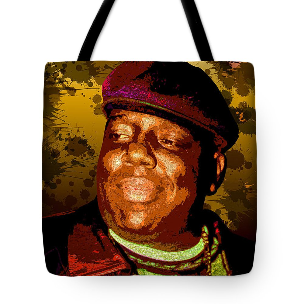 The Notorious Tote Bag featuring the digital art Biggie by Hay Rouleaux