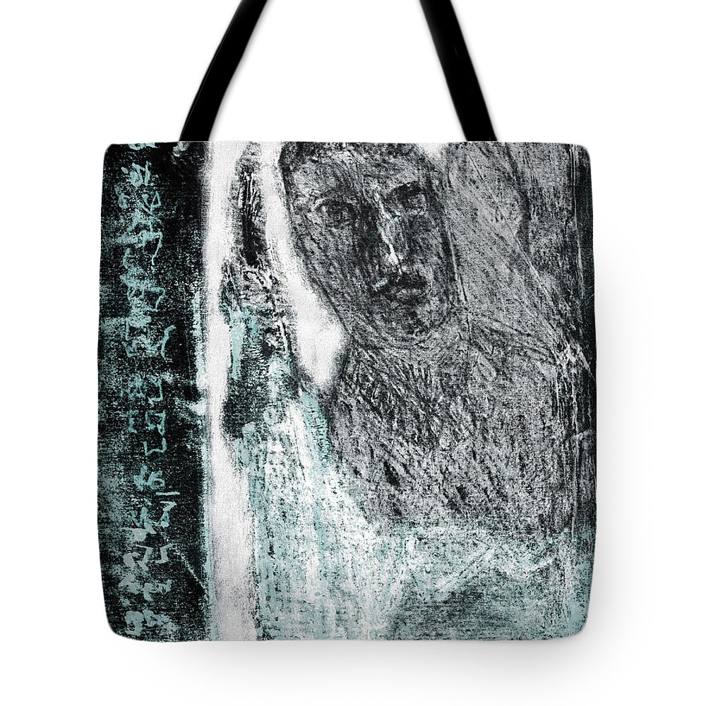 Black Ivory Tote Bag featuring the drawing Black Ivory Issue 1b60a by Artist Dot