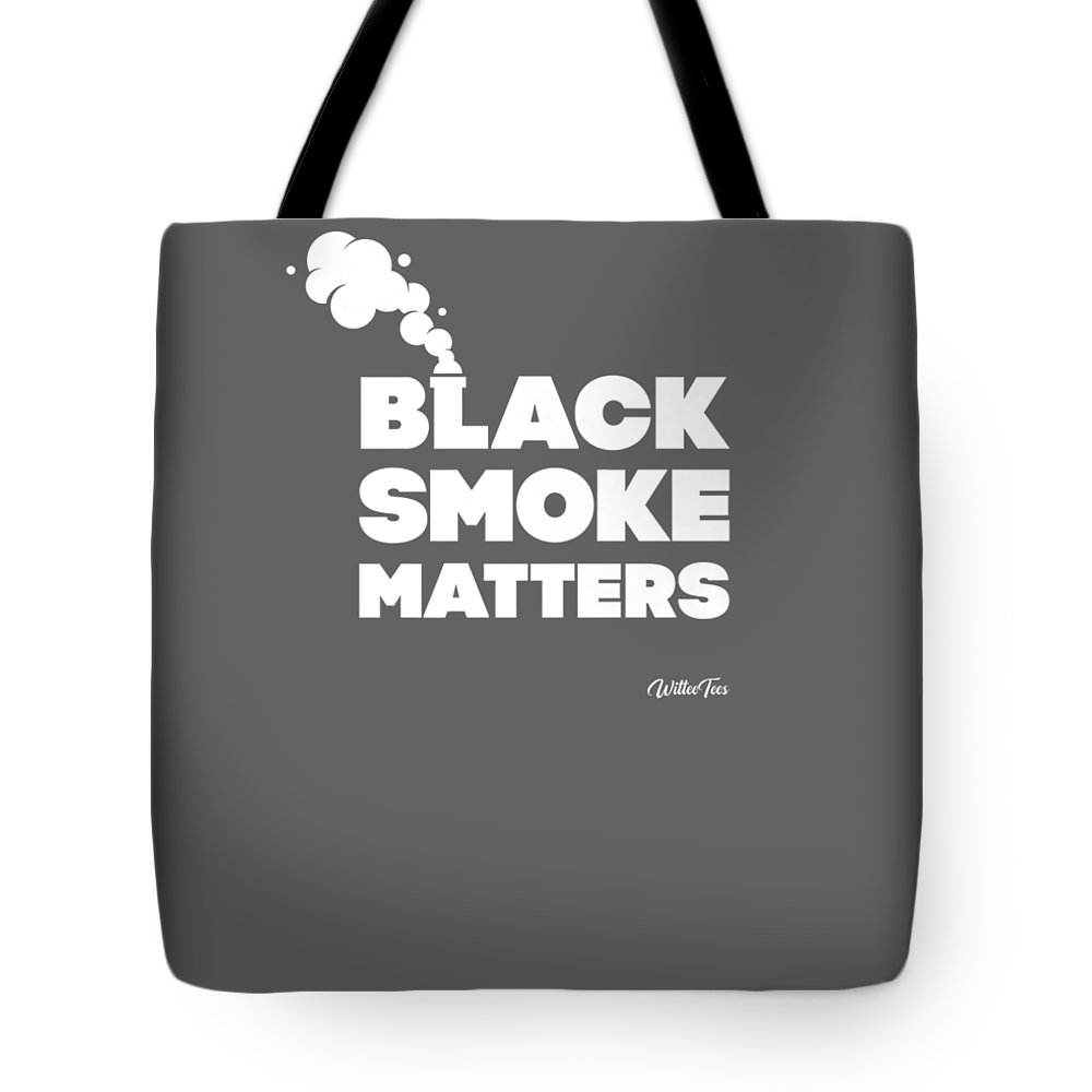 girls' Novelty T-shirts Tote Bag featuring the digital art Black Smoke Matters Funny Trucker Diesel Semi-truck Tshirt by Unique Tees
