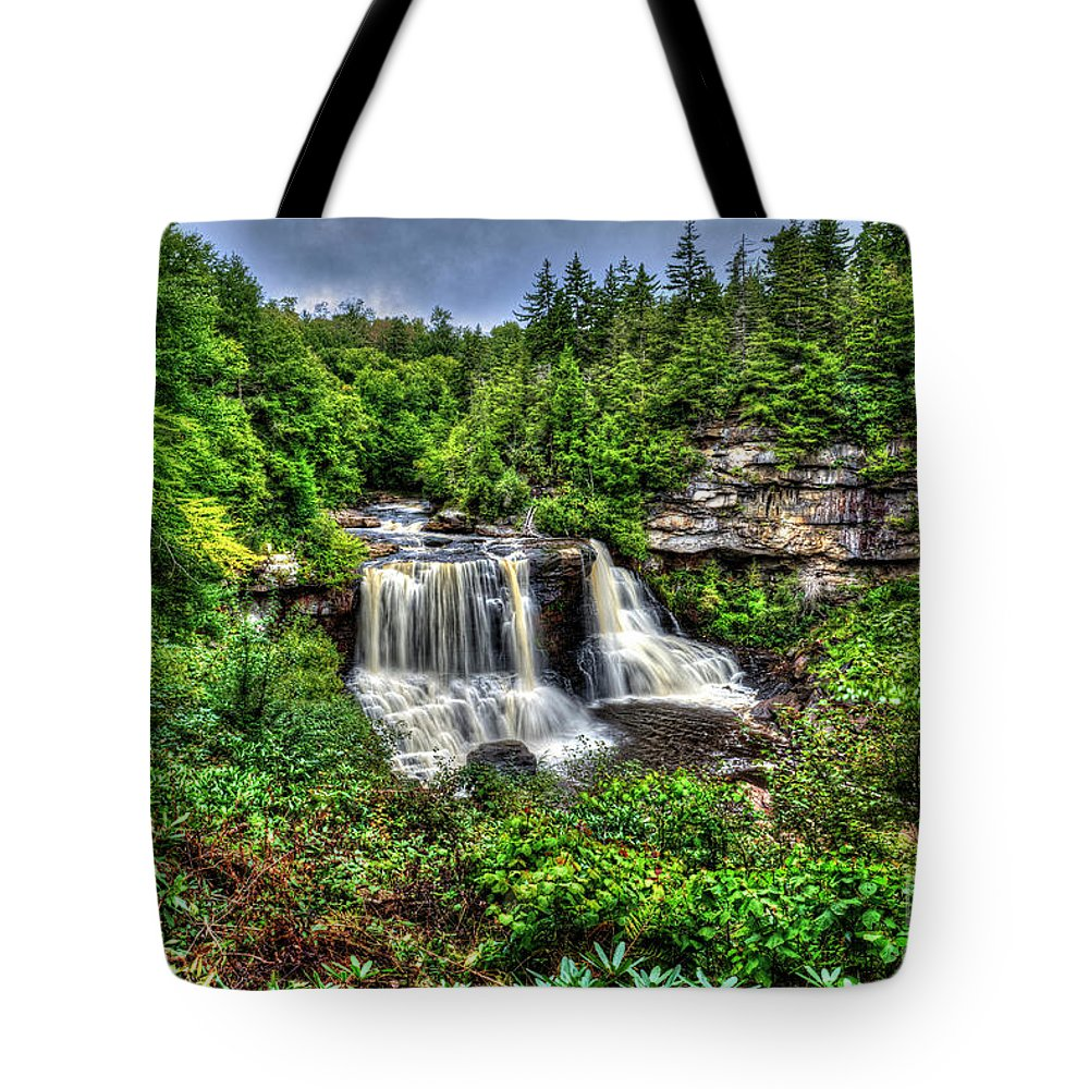 West Virginia Tote Bag featuring the photograph Blackwater Falls, Blackwater Falls State Park, West Virginia by Greg Hager
