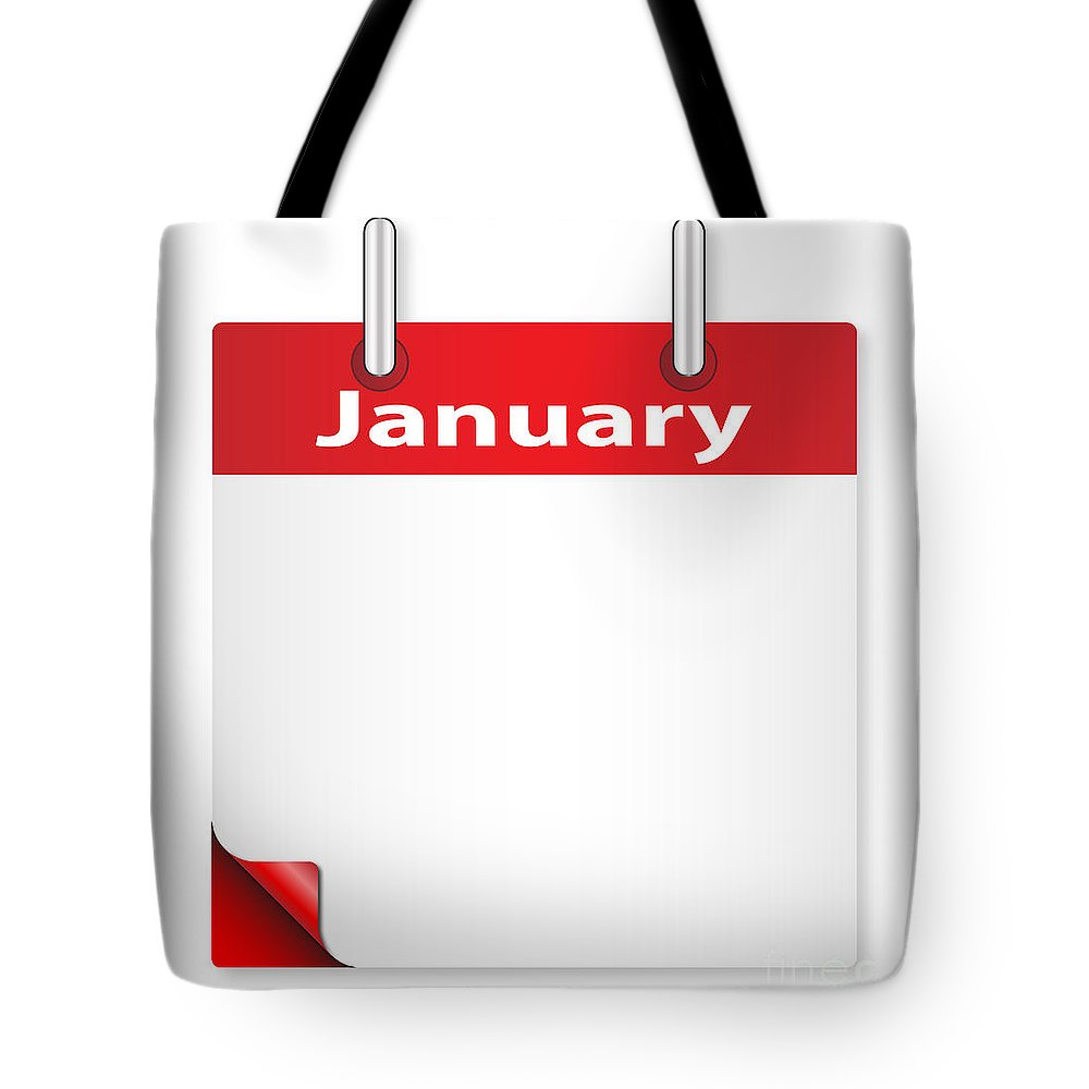 Date Tote Bag featuring the digital art Blank January Date by Bigalbaloo Stock
