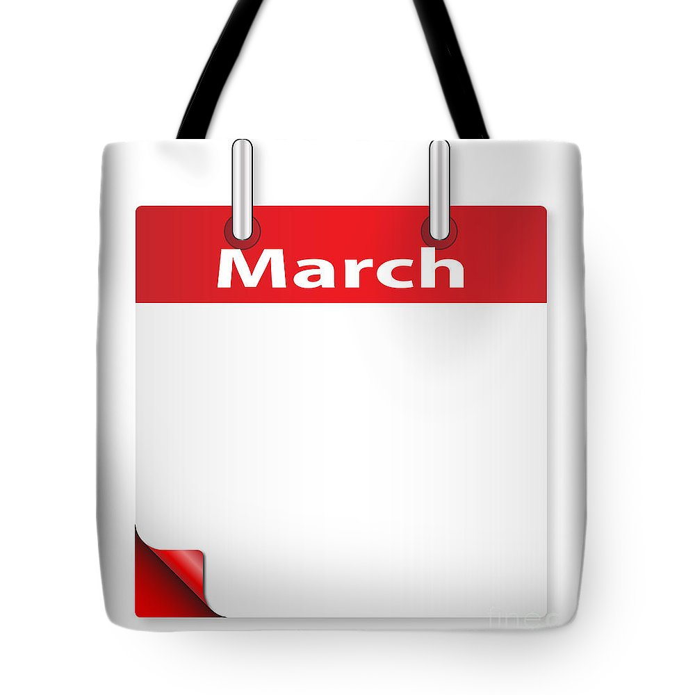 Date Tote Bag featuring the digital art Blank March Date by Bigalbaloo Stock