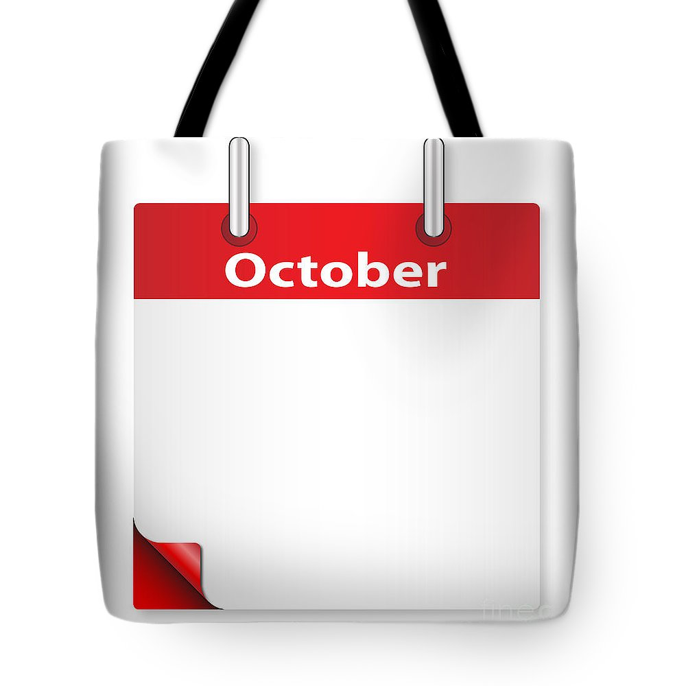 Date Tote Bag featuring the digital art Blank October Date by Bigalbaloo Stock