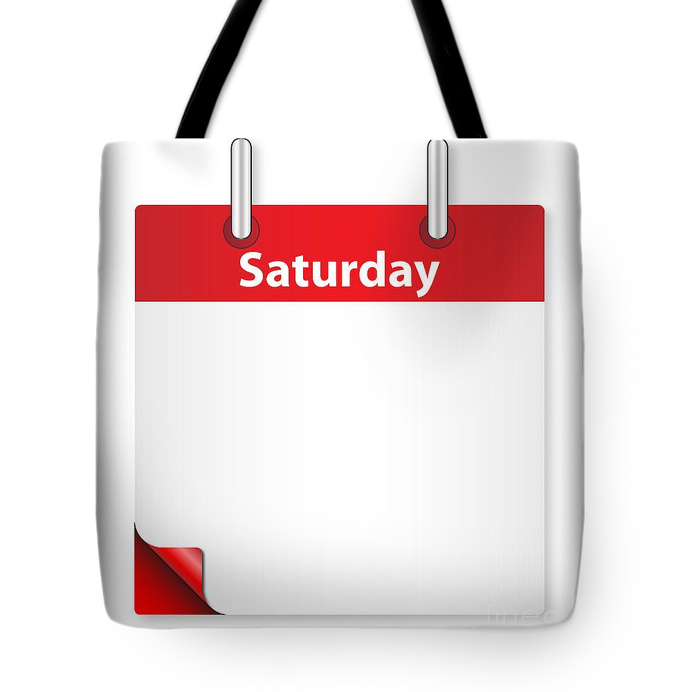 Date Tote Bag featuring the digital art Blank Saturday Date by Bigalbaloo Stock