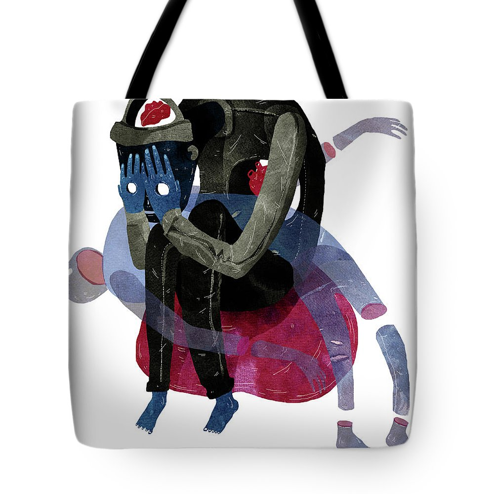 Tote Bag featuring the painting Blind by Francisco Fonseca
