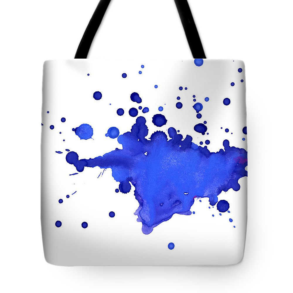 Art Tote Bag featuring the photograph Blue Blobs On The Paper by Alenchi