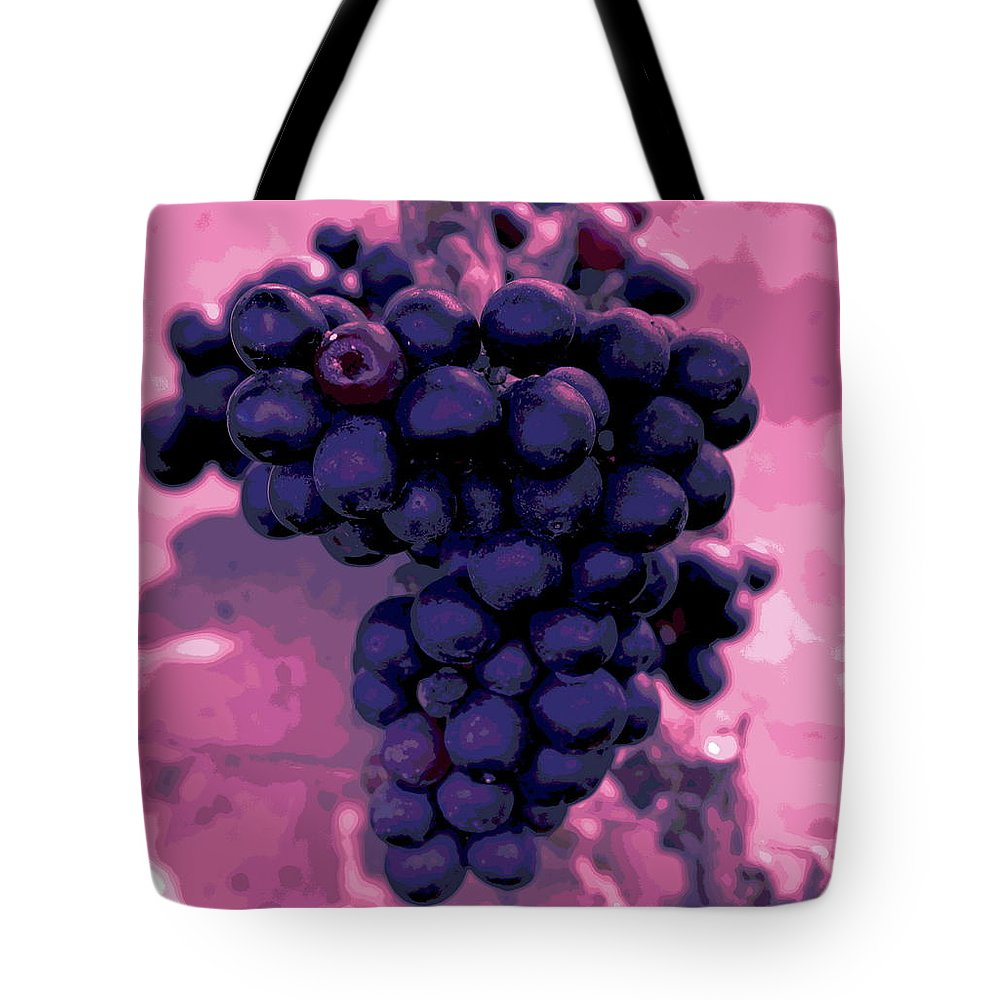 Vineyard Tote Bag featuring the photograph Blue Grape Bunches 6 by Cathy Lindsey