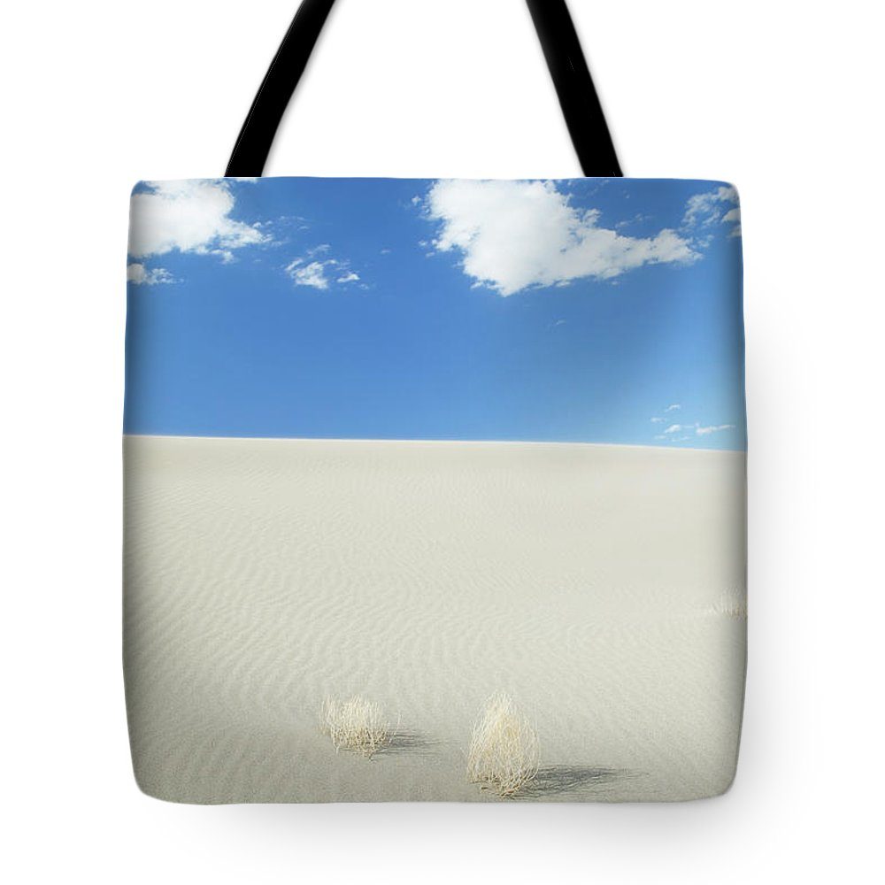 Sand Dune Tote Bag featuring the photograph Blue Sky Over Sand Dune by Bryan Mullennix