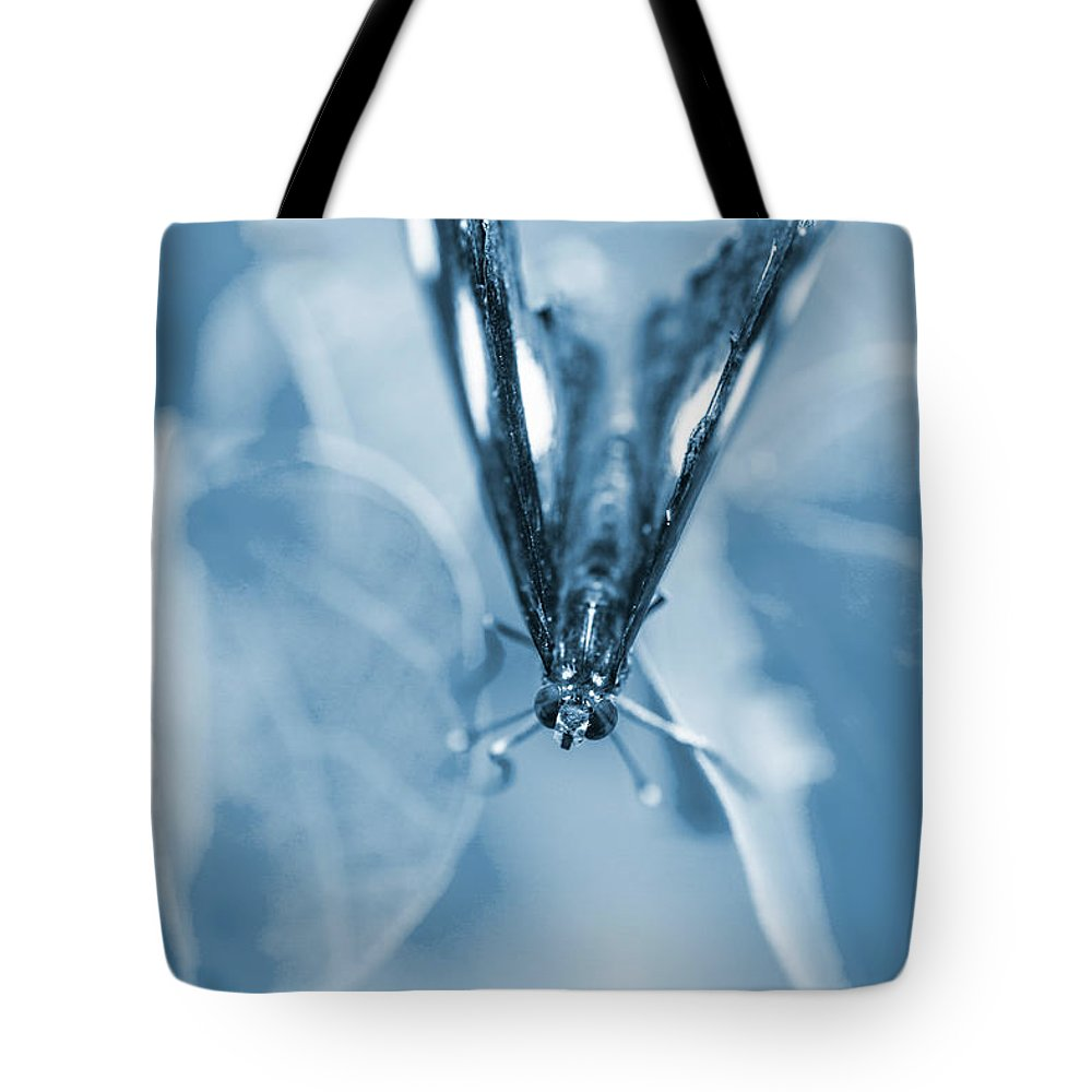 Blue Tote Bag featuring the photograph Blue Spring by Jorgo Photography - Wall Art Gallery