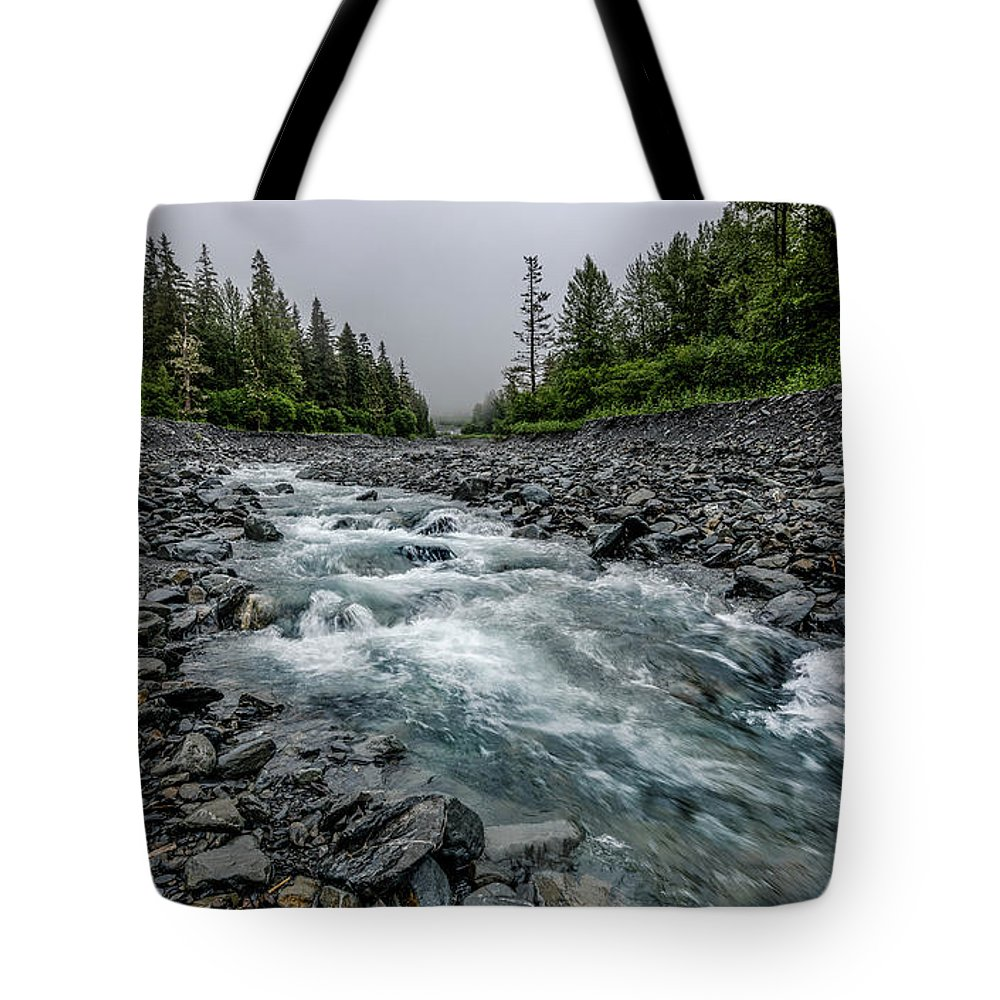 Water Tote Bag featuring the photograph Blue Water Creek by David Downs