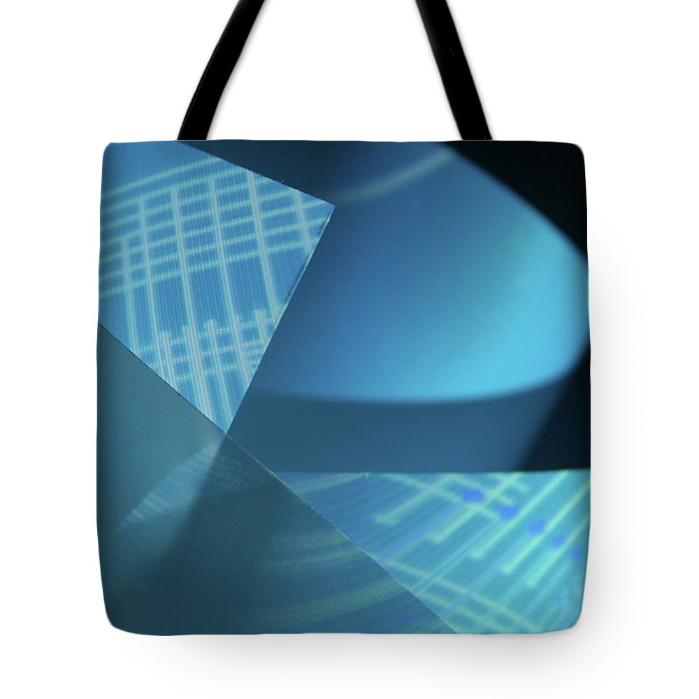 Curve Tote Bag featuring the photograph Blueprint by Penfold