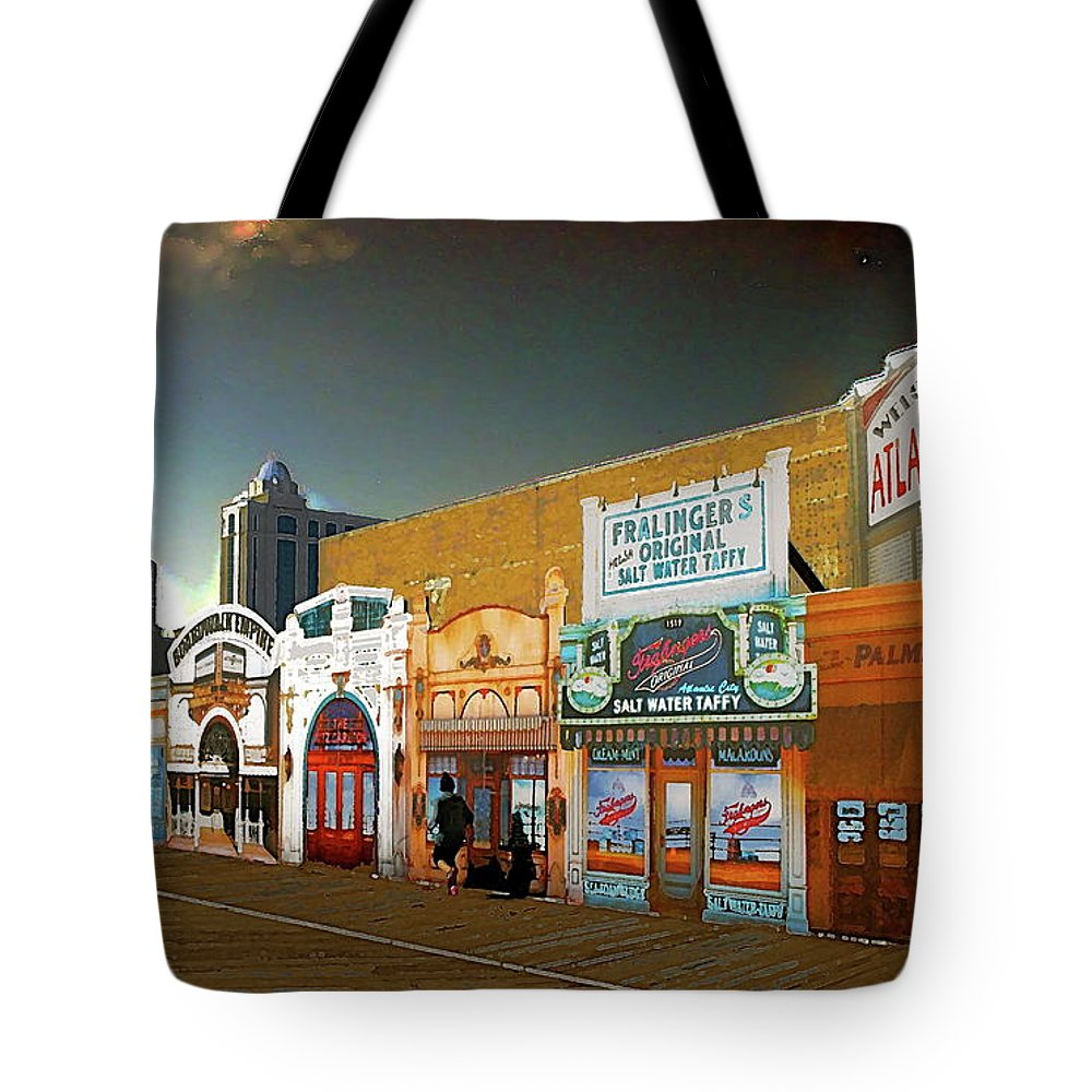 Atlantic City Tote Bag featuring the photograph Boardwalk Empire by Anthony Pelosi