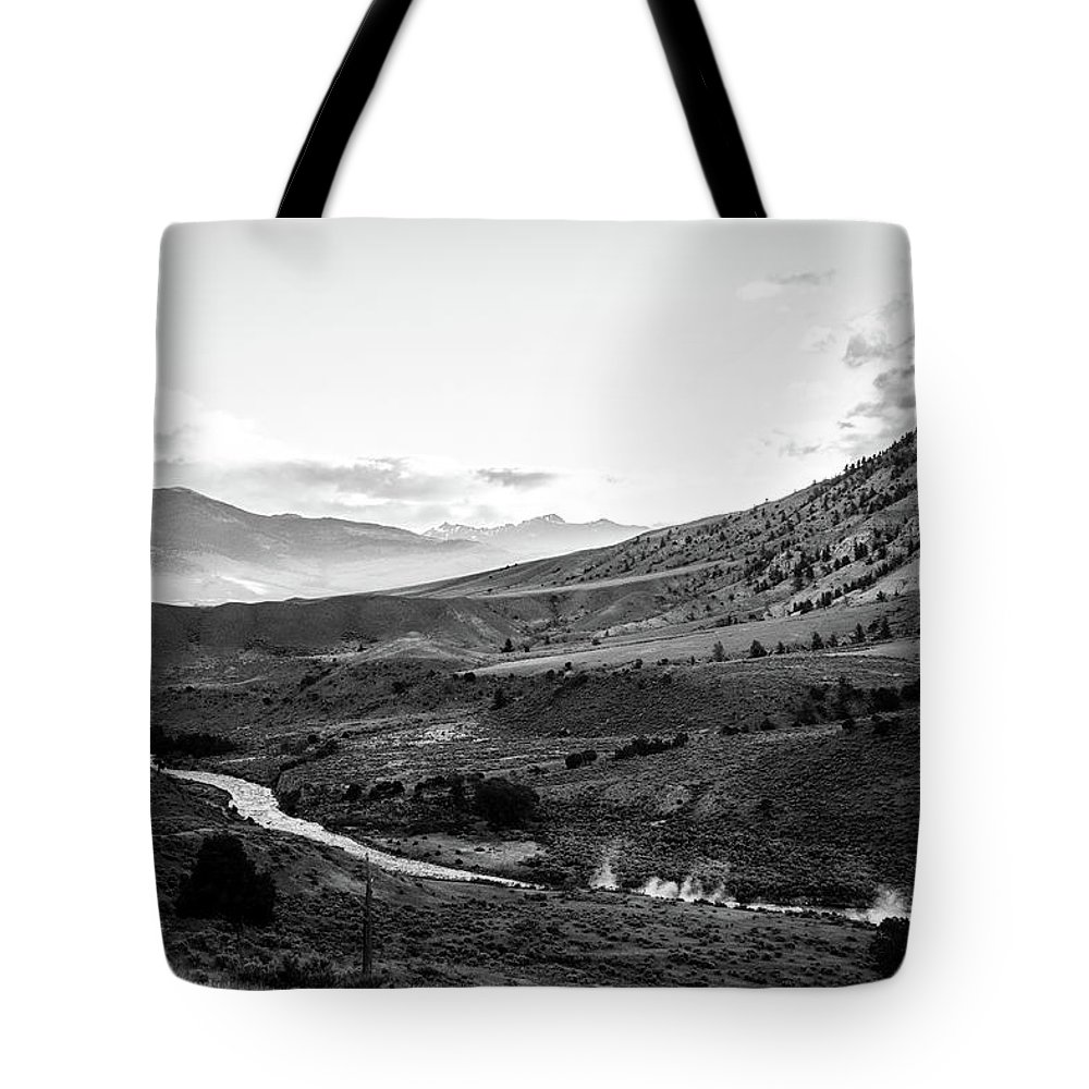 Landscape Tote Bag featuring the photograph Boiling River by Jason Bohl