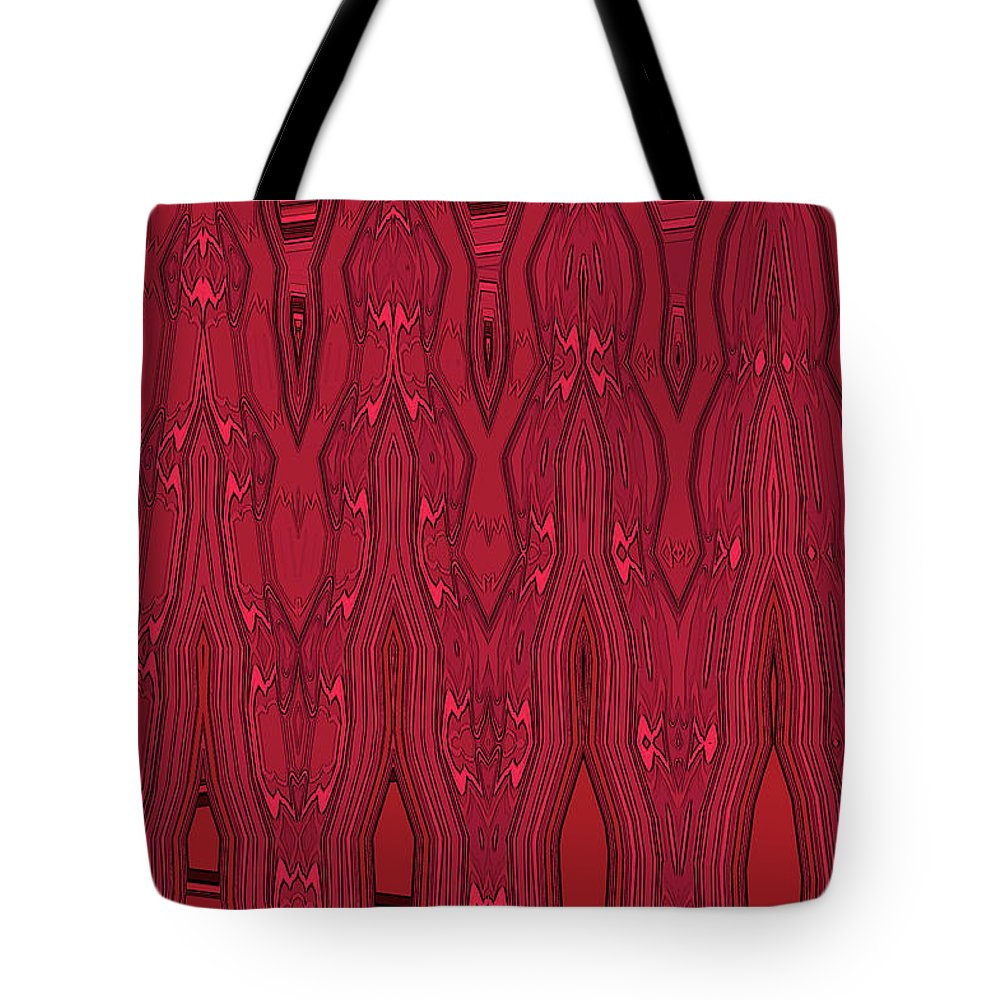 Tote Bag featuring the digital art Bowling Pins 1 by Margaret Meg Murray