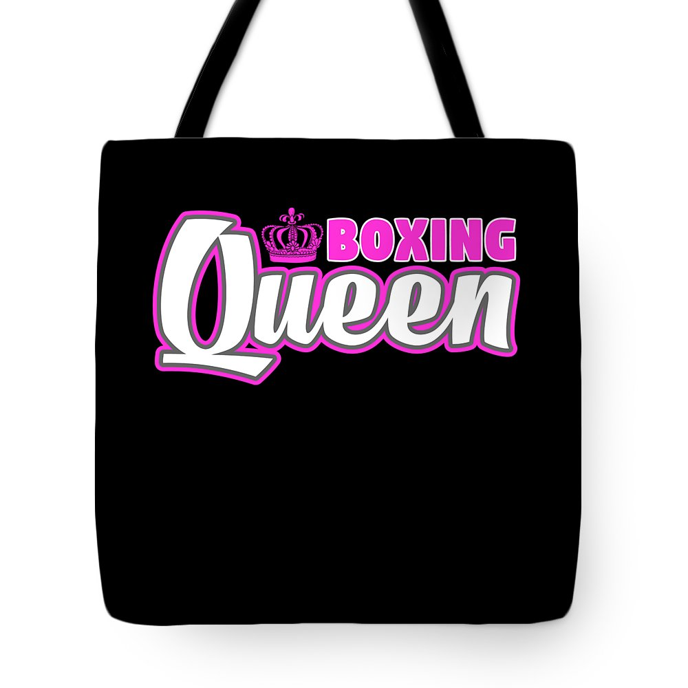Funny-shirts Tote Bag featuring the digital art Boxing Queen Combat Martial Arts Training by Henry B