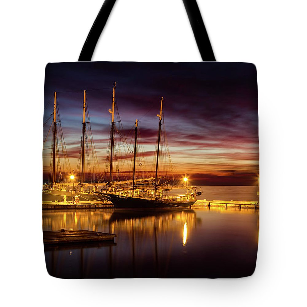 Yorktown Tote Bag featuring the photograph Breakfast On The Riva by James Hardison